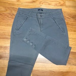 Gap stretch ankle pants with buttons